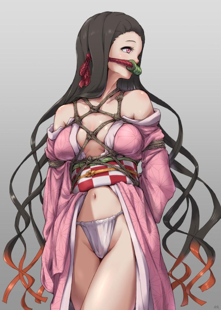 竈門禰豆子 鬼滅の刃エロ画像133