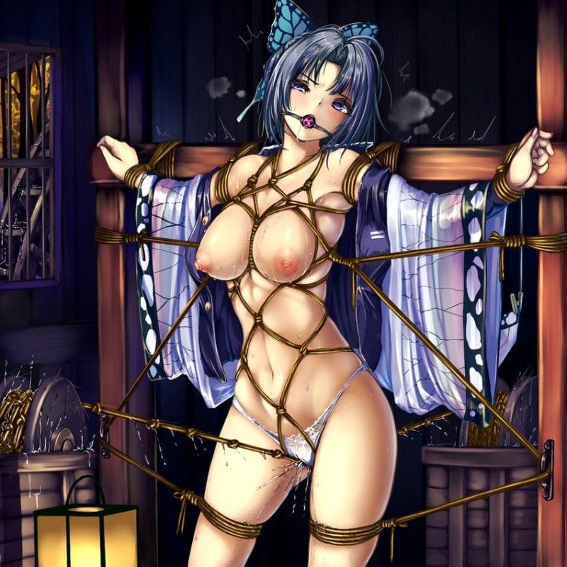 胡蝶しのぶ鬼滅の刃エロ画像079